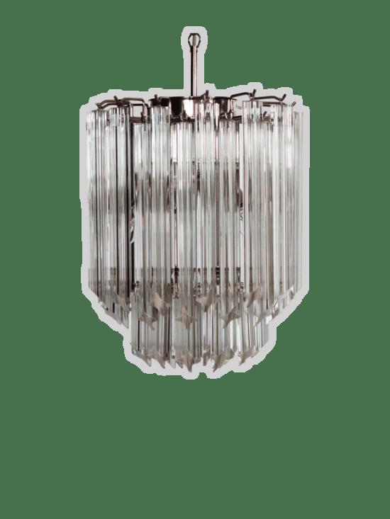 Murano ljuskrona - Quadriedri - 55 prismer - klar