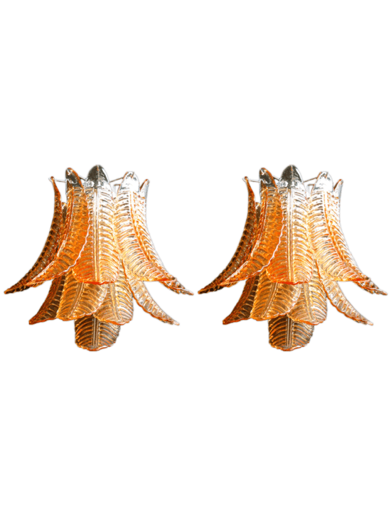 Murano - Vägglampor - Amber - Felci