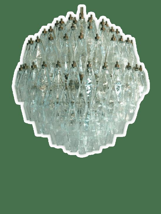 Murano Ljuskrona - Klar - 52 rör - Bambu