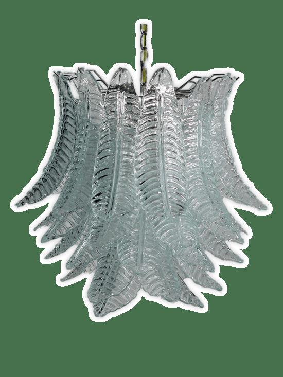 Murano ljuskrona - 41 glasblad - klar