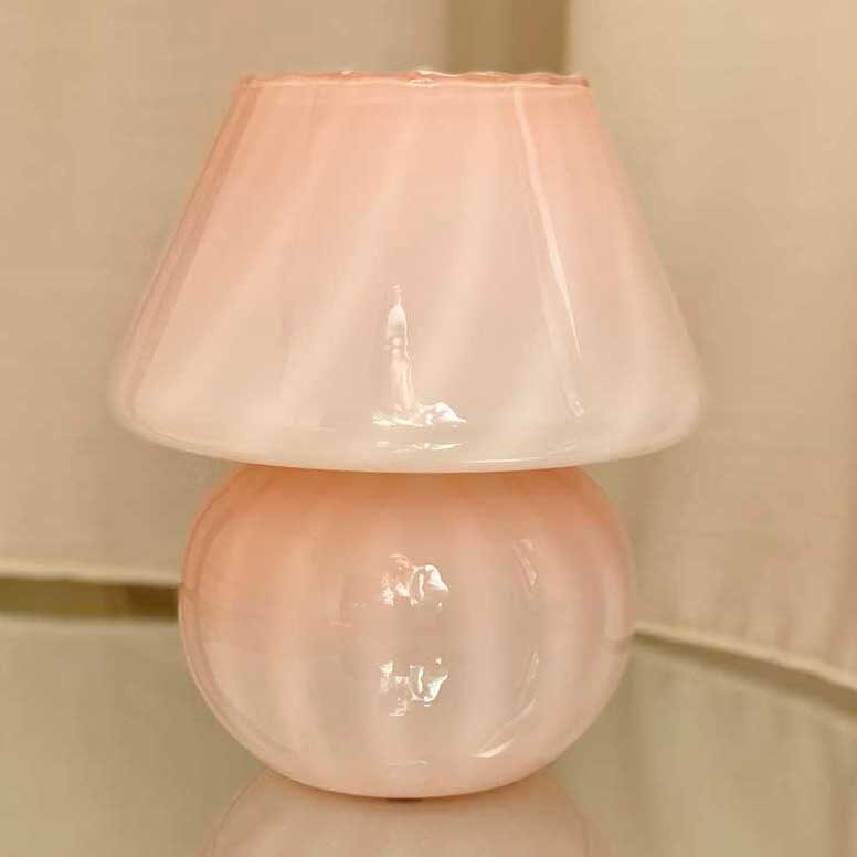 Mushroom - Vintage - Bordslampa - rosa / beige