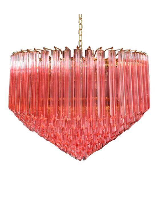 rosa murano kristallkrona